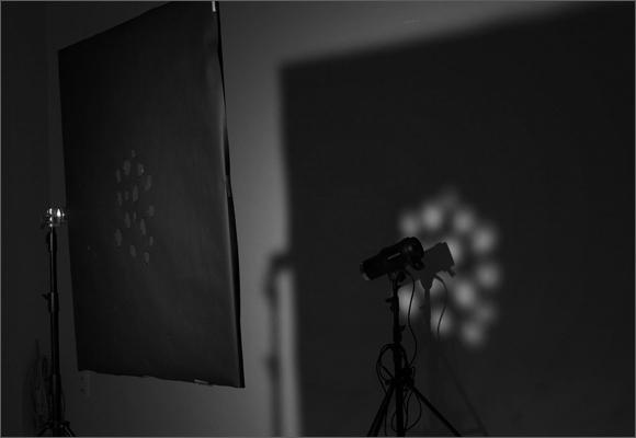 Урок по работе с маской в студии, световой рисунок