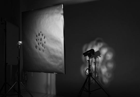 Световой рисунок фрострамы с маской