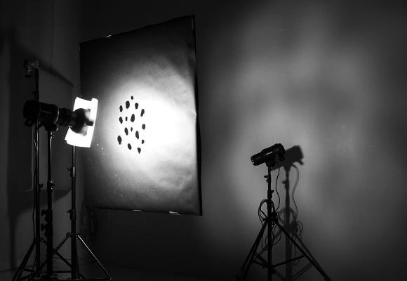 Студийное оборудование: маска, рефлектор, диффузный фильтр, фрострама