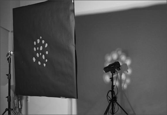 Работа с маской в студии, световое и студийное оборудование